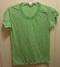 Junk Food Clothing Brand Women's Juniors Green & Sheer Striped T-Shirt size M