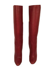 Women's Jimmy Choo London Red Tall Calf Leather Knee High Boots Size 6