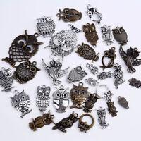 20pcs owl Charms Tibetan Metal Pendants Jewelry Making DIY Craft Decor