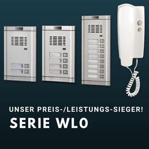 2-DRAHT MFH Tür-Sprechanlage 2/3/4/5/6/8/7/10/12/16-Familienhaus Klingel SET