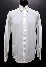 CULT VINTAGE '80 Camicia Uomo Smoking Cotton Tuxedo Man Shirt Sz.M - 48