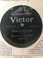 1910 ADA JONES & Billy Murray SMILE, SMILE , SMILE Victor 16662