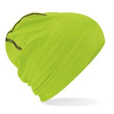 Beechfield Hemsedal Cotton Beanie - Bright pull on stretch slouch hat  Men Women 8d31110f50c8
