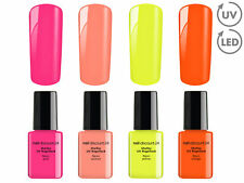 Shellac NEON Collection 4x SET UVNail Polish LED Gele Nagellack SoakOff BaseCoat