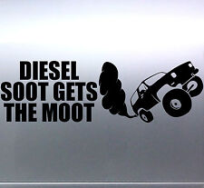 DIESEL SOOT GETS THE MOOT Sticker DIRTY 4x4 4wd Car 340x105mm *Premium quality*