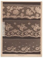 Valenciennes French Lace Pattern Specimines1917 Photogravure Print