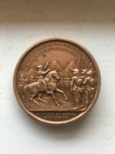 French medal, from Napoleon Bonaparte in Egypt. Medal by A. Bovy