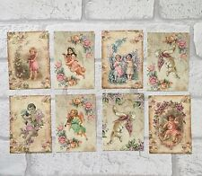 Vintage Style Fairy Cherub Card Toppers, Gift Tags Craft Make Your Own Shabby