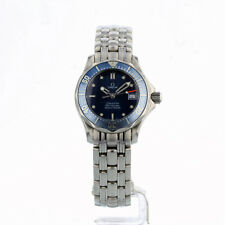 LADIES OMEGA SEAMASTER 28MM 5961523 BLUE WAVE DIAL 12 MONTH GUARANTEE