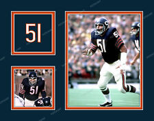 DICK BUTKUS Photo Picture Collage CHICAGO BEARS Print 8x10 11x14 or 16x20