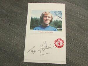 Tommy BALDWIN Manchester United Loan Footballer 1975 Original Hand Signed Card