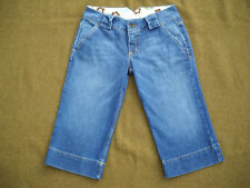 Matix Size 7 Blue Clam Digger Denim Jeans Pants, Immaculate! FREE SHIP!