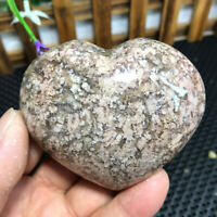 221g Natural Colorful Pattern Agate  Heart Polished Crystal From Madagascar 4092