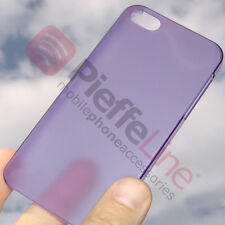 custodia COVER VIOLA ULTRA SLIM 0,2mm PROTEZIONE TRASPARENTE x Apple iPhone 5