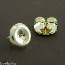 Genuine 9CT Solid Yellow Gold Butterfly Earring Backs 7mm - 1 Pair