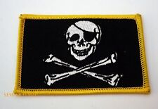 JOLLY ROGER PIRATE HAT PATCH US MARINES NAVY ARMY AIR FORCE SKULL N BONES EYE