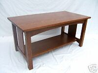 MISSION SLAT SIDE COFFEE TABLE SMALLER SIZE QUARTERSAWN FREE SHIPPING