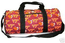 Virginia Tech Hokies Duffle Bag Logo Fabric, New