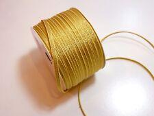 Metallic Gold Grosgrain Ribbon 1/8 inch wide x 10 yards, Metallic Gold Ribbon