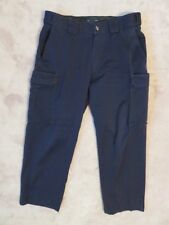 5.11 Tactical Series PANTS Mens 36 Blue Cargo & Cell Phone Pocket Patrol Uniform