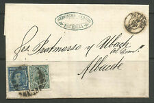 OSBURGH – SPAIN. FOLDED COVER. PALENCIA TO ALBACETE. GERONIMO ARROYO.