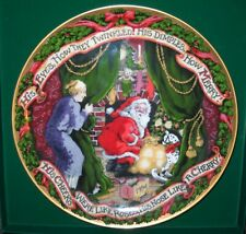 Fitz and Floyd Night Before Christmas Annual Plate 1994 Mint Condition w/Box