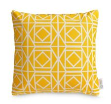 Yellow throw pillow, Designer scatter cushion, Yellow decorative pillow