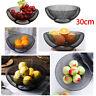 Mesh Fruit Bowl Basket Dinning Table Kitchen Vegetables Fruit Storage Rack Black
