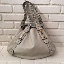 GUCCI Pelham Guccissima Mystic Cream/Beige Leather Satchel Hobo Shoulder Bag