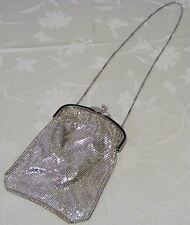Vintage Whiting and Davis Silver Mesh 9 Inch Bag