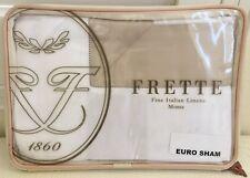 """Frette Euro Continental Pillow Sham White Sandstone  26x26"""" 100% Cotton New $210"""