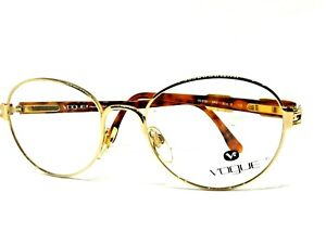 Vogue Glasses Round Metal Vintage Ages 90 Gold Man Woman Italy