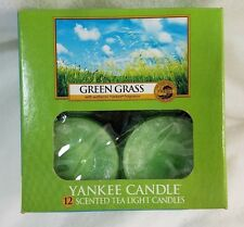 Yankee Candle GREEN GRASS Box of 12 Scented Tealights Tea Light Fresh New