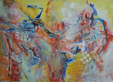 Modern British 1960s Abstract Oil Painting by Doreen Lowe