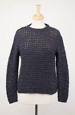 NWT BRUNELLO CUCINELLI Navy Blue Cashmere Blend Knit Sweater Size XL $3025