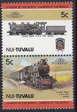 TUVALU NUI LOCO 100 CLASS 8800 LOCOMOTIVE JAPAN STAMPS MNH