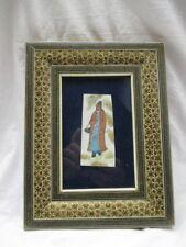Persische Miniaturmalerei Bein Derwisch Kashkol Lupenmalerei Intarsienrahmen