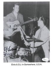D.J Fontana Hand Signed 8x10 Photo Very Rare Elvis Presley Drummer Jsa