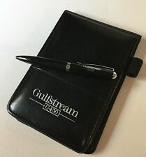 Grumman Gulfstream G450 Little Black Flip Book,Pen Paper Pad Aerospace Diary Set