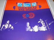"Cream Promo Poster Signed Bob Masse ""Turn On To The Cream KPPC 106.7 FM""  RARE"