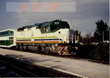 6F437 RP 1989 FLORIDA DOT RAILROAD ENGINE #802 HOLLYWOOD FL