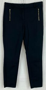 NEXT Womens Black Cropped Party Trousers Size 12