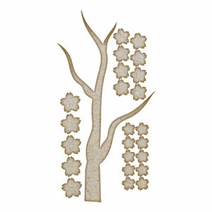 Cherry Blossom Branch (Design 1) MDF Laser Cut Craft Blanks in Various Sizes