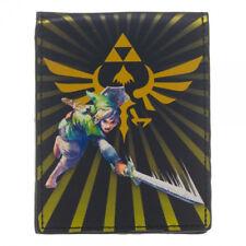 Authentic LEGEND OF ZELDA Link With Sword Burst Triforce Bifold Wallet NEW