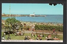 St Nicholas Gardens and South Bay Scarborough 1980's ? Postcard ~ Yorkshire