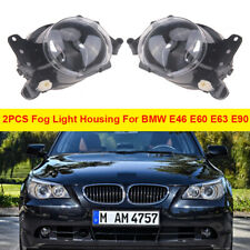 Pair Front Bumper Fog Light Housing For BMW E46 E60 E63 E90 325i 525i X3 4-Door