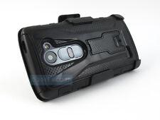 FOR LG POWER L22C DESTINY L21G FULL BLACK VT CASE PHONE COVER+BELT CLIP HOLSTER