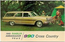 1965 Rambler Ambassador 990 Cross Country Automobile Advertising Postcard