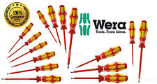WERA Kraftform VDE Insulated Screwdriver Choose From Phillips, Pozi, Slot Or Set