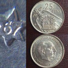 25 Pesetas 1957 *67 1967 España Spain S/C Sin Circular 5 Duros